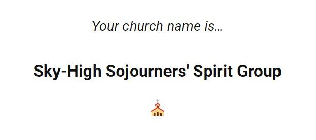 The Babylon Bee Church Name Generator | SHARPER IRON
