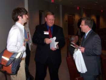Luke McCarnan, Pastors Todd Mitchell of Granite Falls, MN and Bob Bixby of Rockford, IL