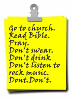 Image result for list of dos and don'ts for church